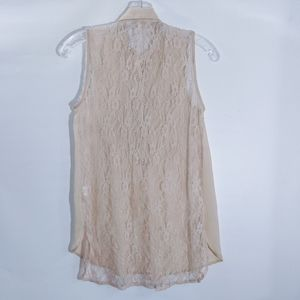 Band of Gypsies Tops - Band of Gypsies Sheer and Lace Sleeveless Tunic XS